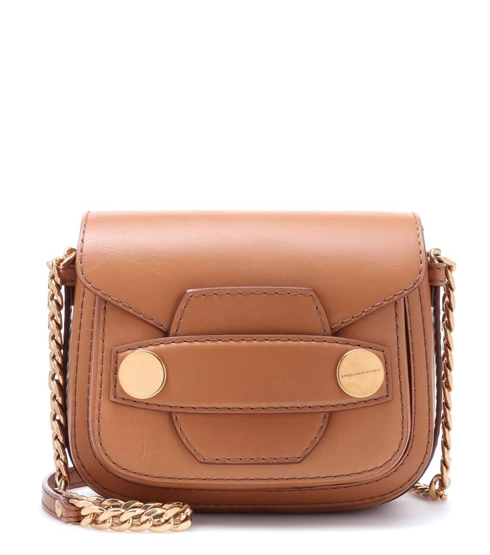 a81eb2bff57e Stella Mccartney Stella Popper Mini Shoulder Bag In Camel