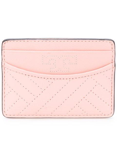 Tory Burch 'alexa' Pink Quilted Cardholder
