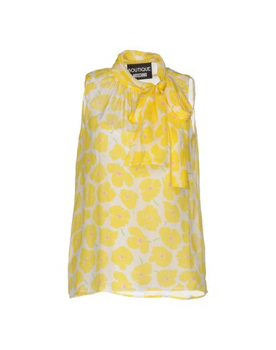 Boutique Moschino Silk Top In Yellow