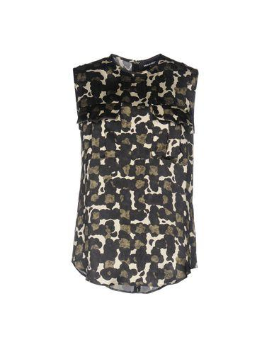 Dsquared2 Silk Top In Military Green