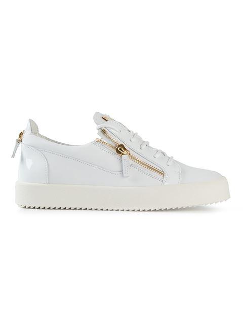 Giuseppe Zanotti Bucks Low-Top Leather Sneakers In White