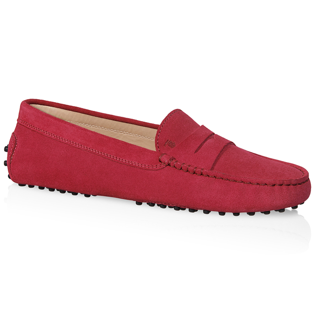 Tod's Gommino Driving Shoes In Suede In Red