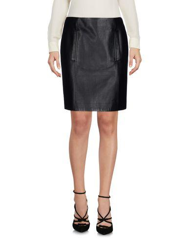 Yves Salomon Knee Length Skirt In Black