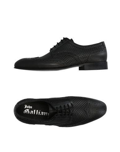 John Galliano Lace-up Shoes In Black