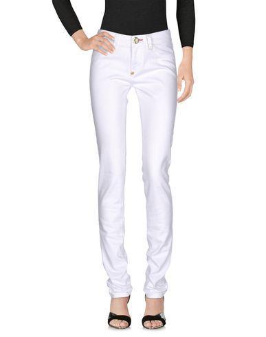 Philipp Plein Denim Pants In White