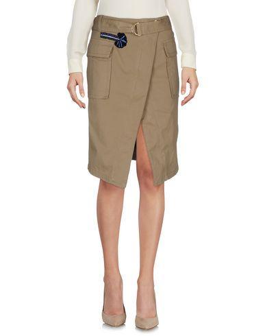 Pinko Knee Length Skirt In Khaki