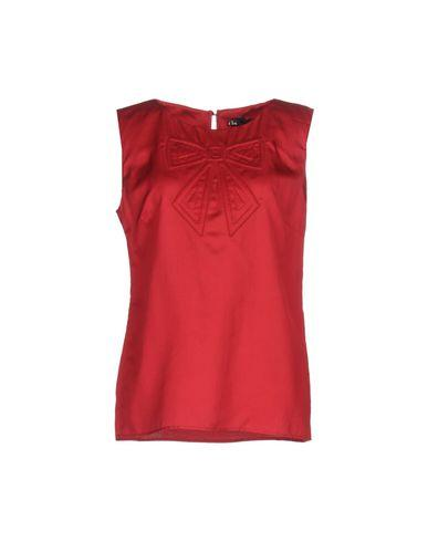 Love Moschino Tube Top In Brick Red