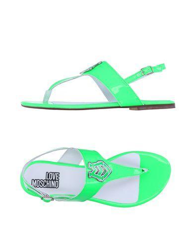 Love Moschino Flip Flops In Acid Green