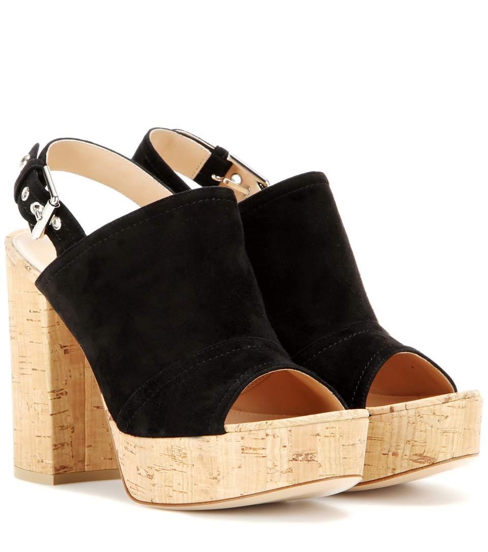 Gianvito Rossi Marcy Suede Platform Sandals