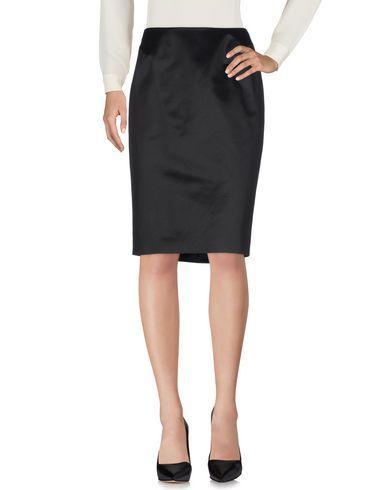 Mugler Knee Length Skirts In Black