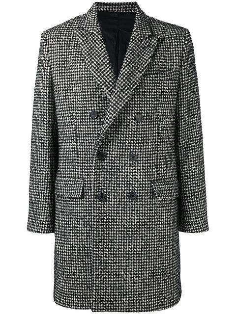 Ami Alexandre Mattiussi Double Breasted Coat In Black
