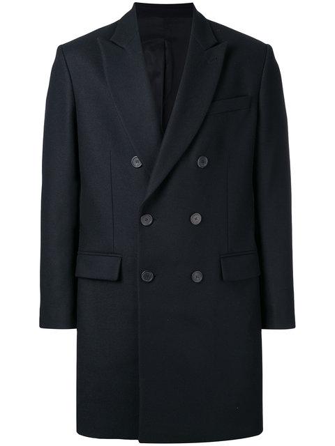 Ami Alexandre Mattiussi Double Breasted Coat In Blue