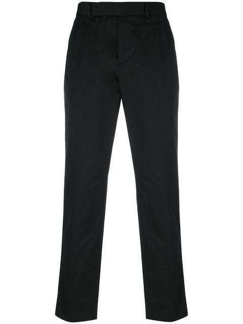 Gucci Web Trim Chino Trousers In Black