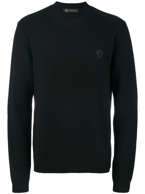 Versace Black Small Medusa Sweater