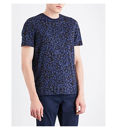 Michael Kors Camouflage-print Cotton-jersey T-shirt In Midnight