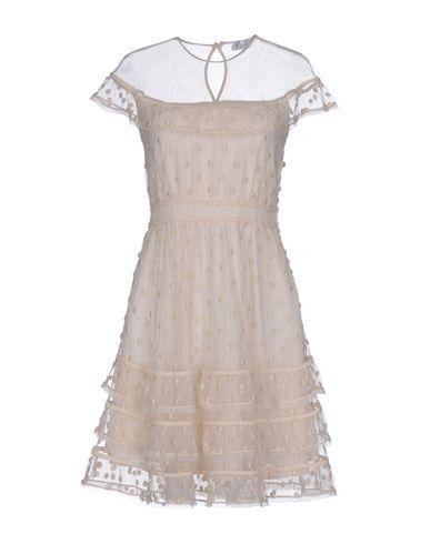 Red Valentino Short Dress In Ivory