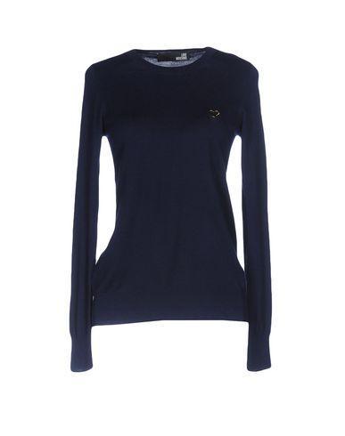 Love Moschino Sweaters In Dark Blue