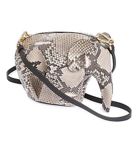 Loewe Elephant Minibag Snakeskin Shoulder Bag In Natural