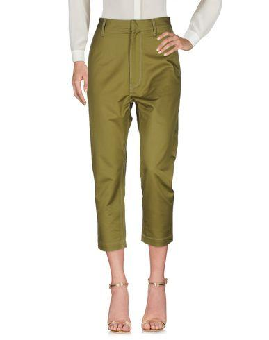 Golden Goose Cropped Pants & Culottes In Military Green