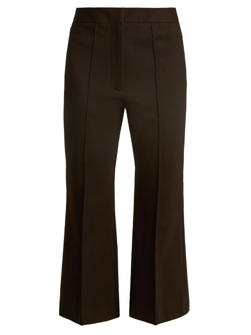 Tibi Jane Slim-leg Cropped Trousers In Black