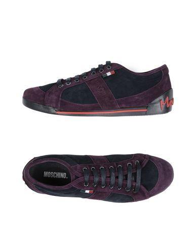 Moschino Sneakers In Deep Purple