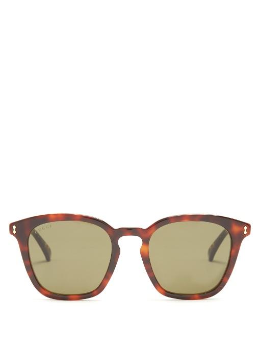 Gucci Square-frame Acetate Sunglasses In Brown
