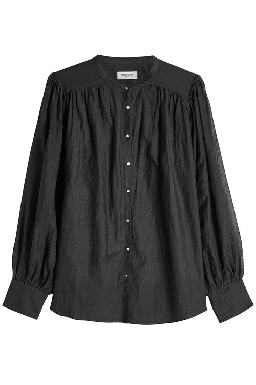 Zadig & Voltaire Blouse With Cotton In Black