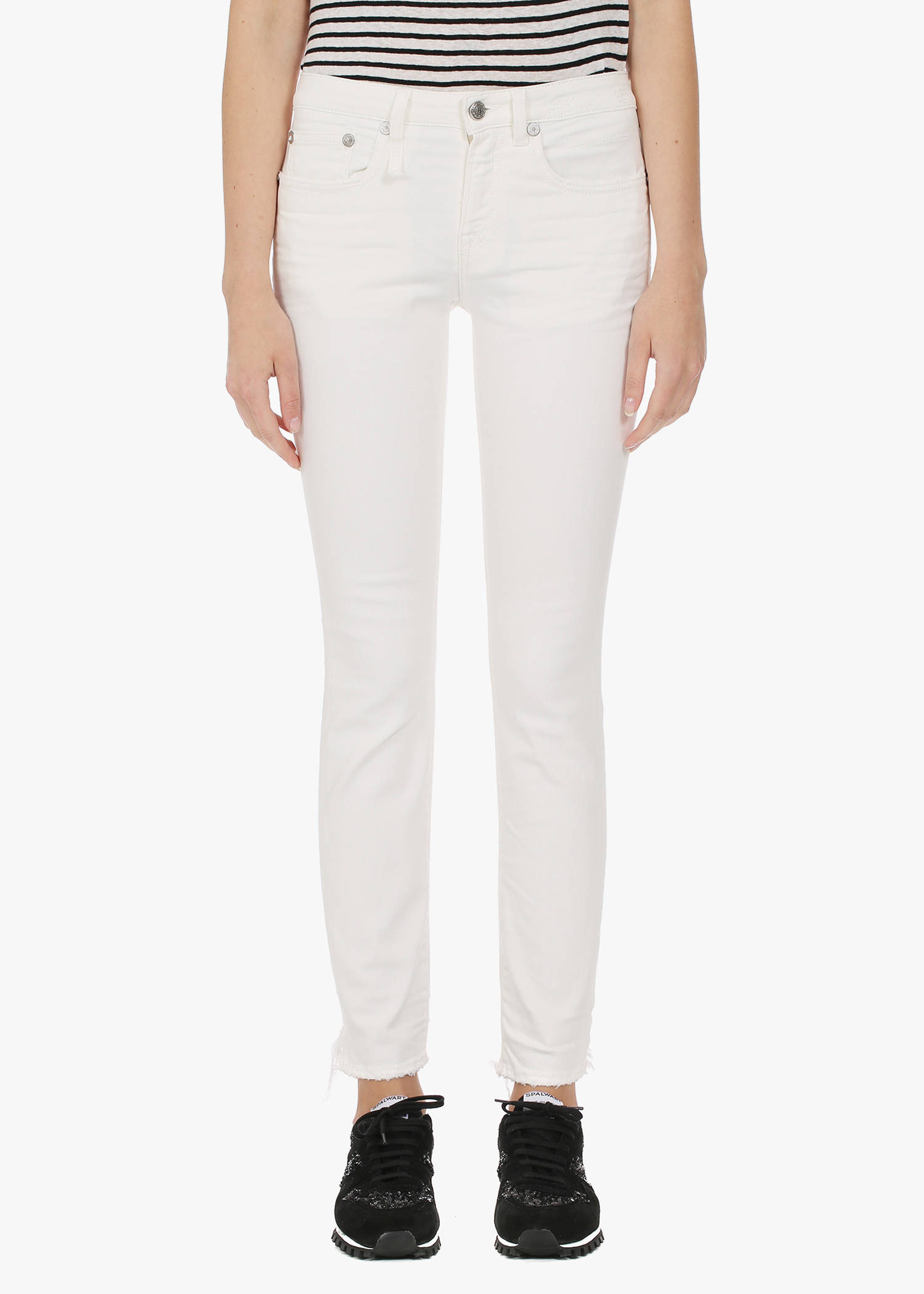 R13 Alison Skinny In Garret White
