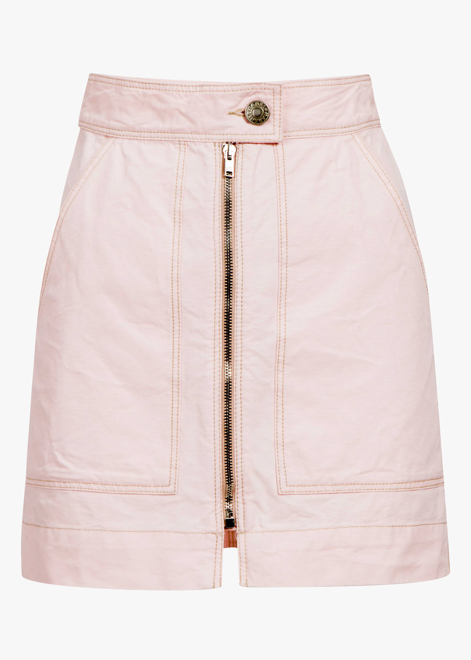 Isabel Marant Demie Front Zip Skirt In Light Pink
