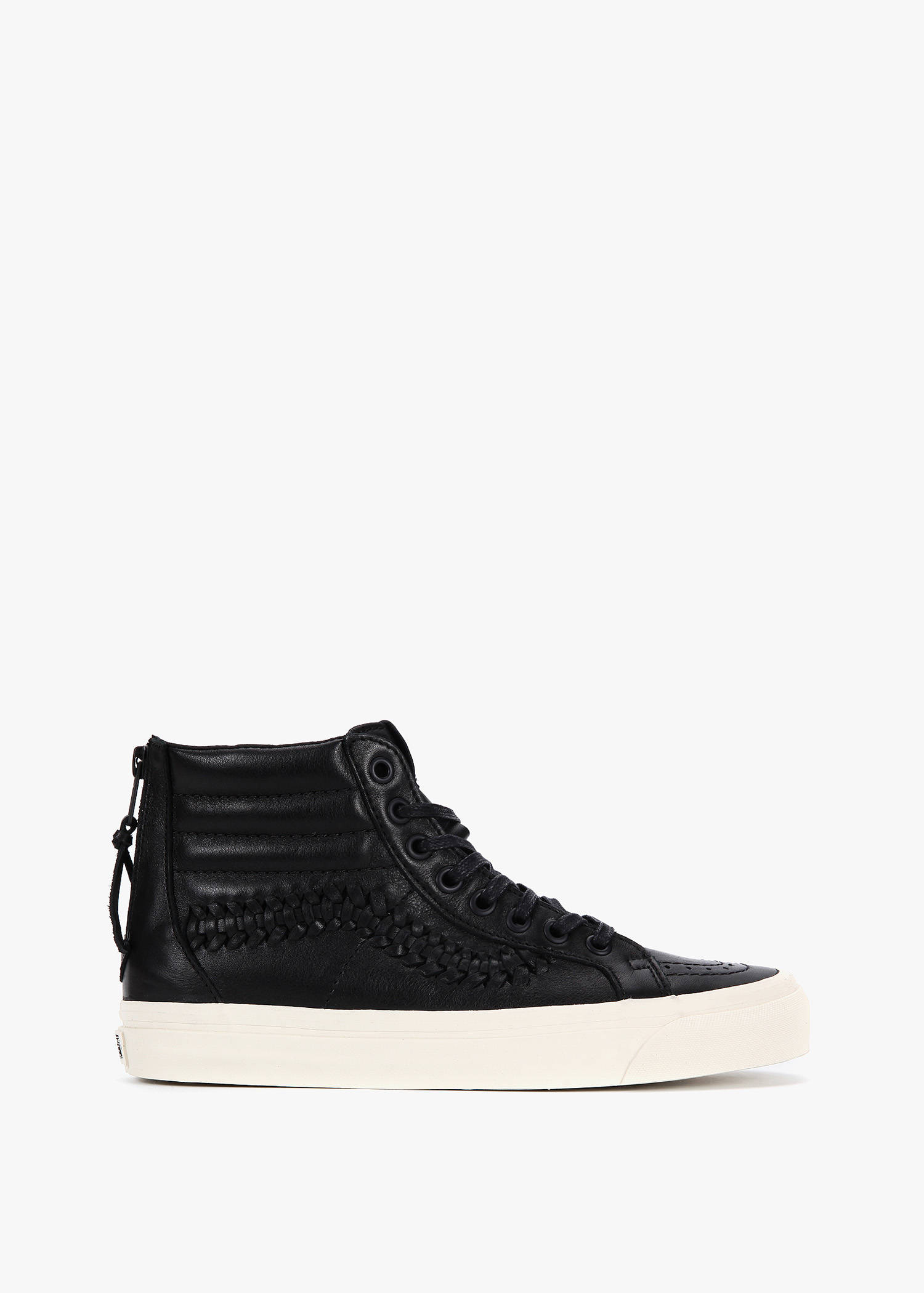 Vans Ua Sk8-hi Zip Weave Dx In (leather) Black
