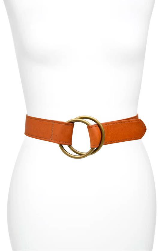 Ada Josie Leather Belt In Cognac