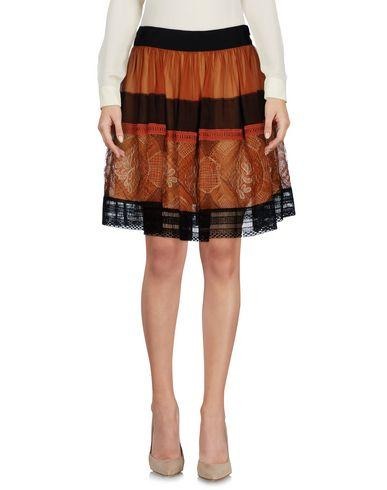 Alberta Ferretti Knee Length Skirt In Brown