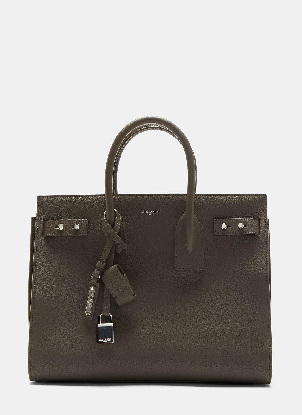 Saint Laurent Small Sac De Jour Souple Handbag In Grey