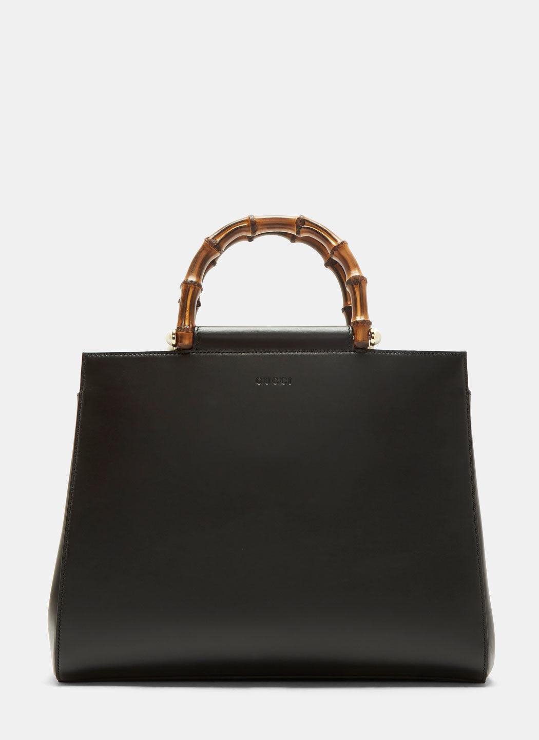 Gucci Nymphaea Medium Top Handle Bag In Black