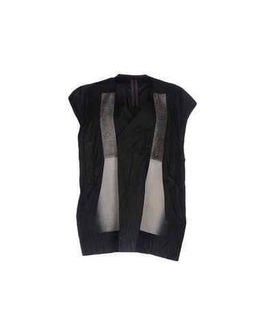 Rick Owens Drkshdw Double Breasted Pea Coat In Black