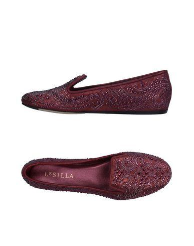 Le Silla Loafers In Deep Purple