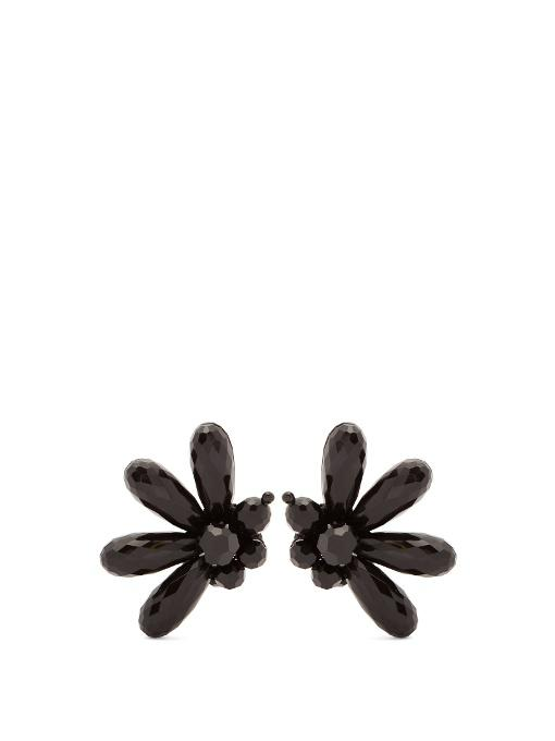 Simone Rocha Clustered-bead Clip-on Earrings In Black