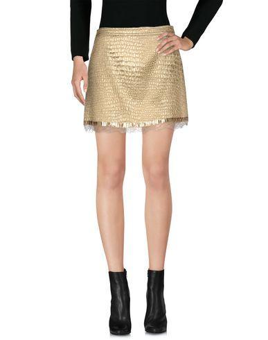 Blumarine Mini Skirt In Gold