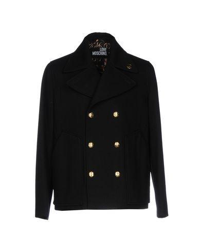 Love Moschino Coats In Black