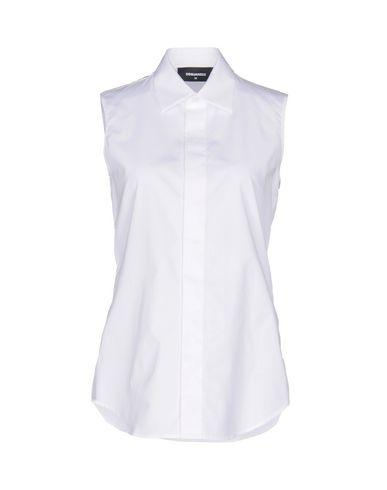 Dsquared2 Solid Color Shirts & Blouses In White