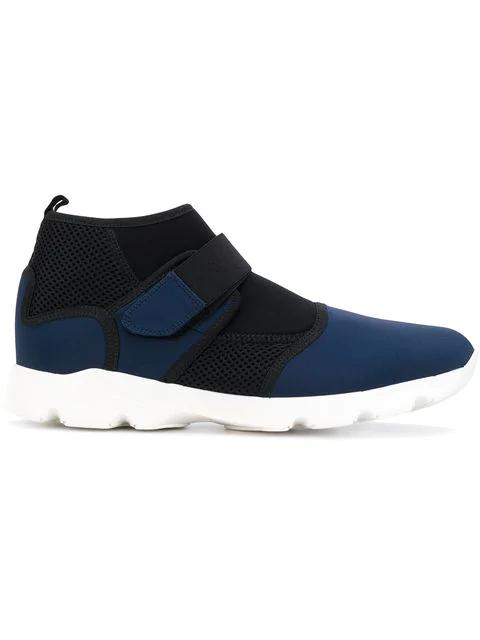 Marni Technical Fabric Sneakers In Blue