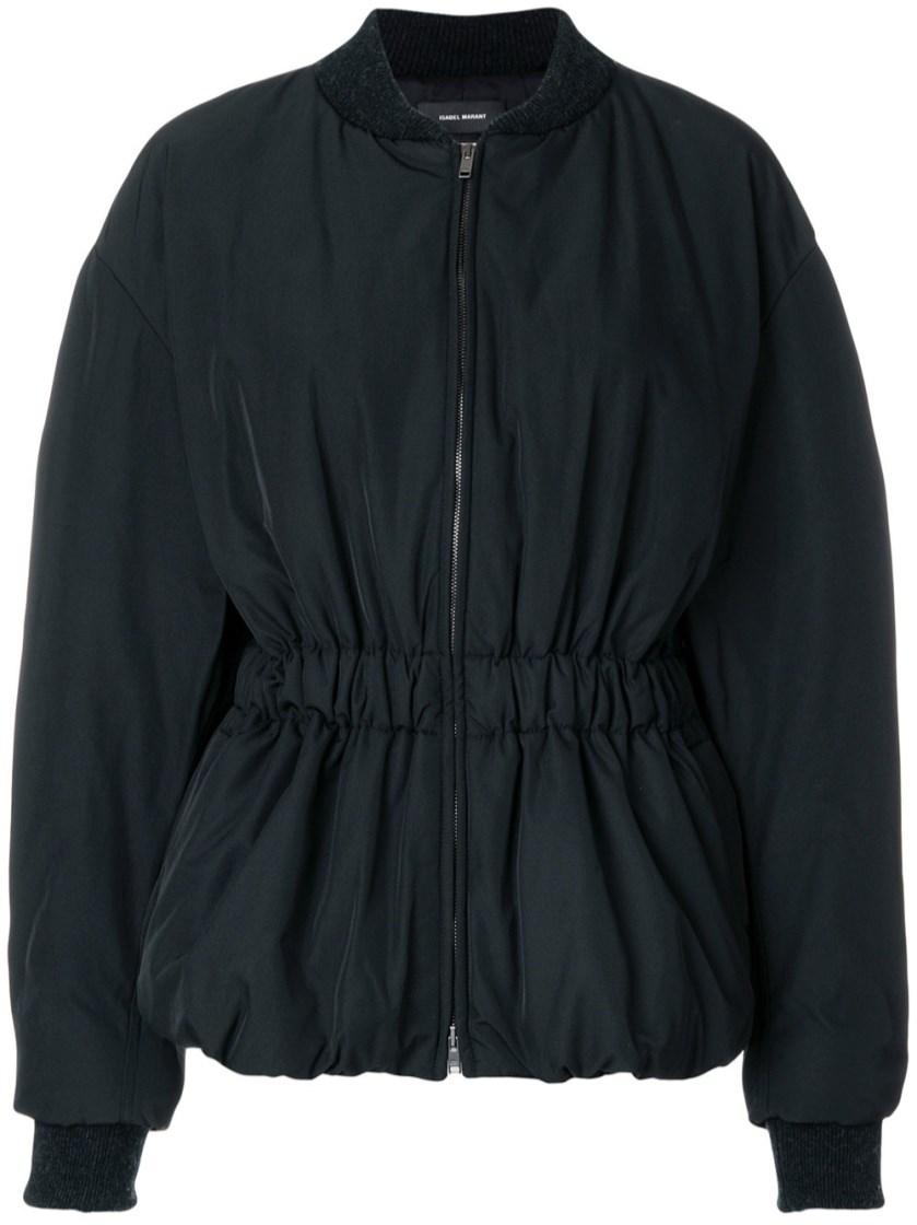 Isabel Marant Elastic Waist Balloon Sleeve Jacket In Black