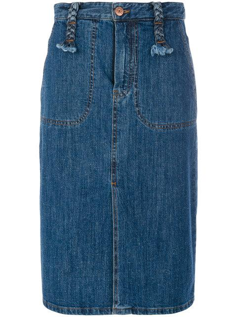 See By ChloÉ See By Chlo Long Denim Skirt In Blue