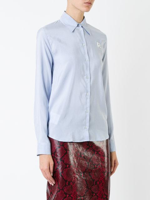 Rochas Embroidered R Shirt - Blue