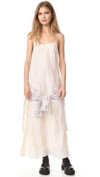 R13 Summer Grunge Dress In Ivory