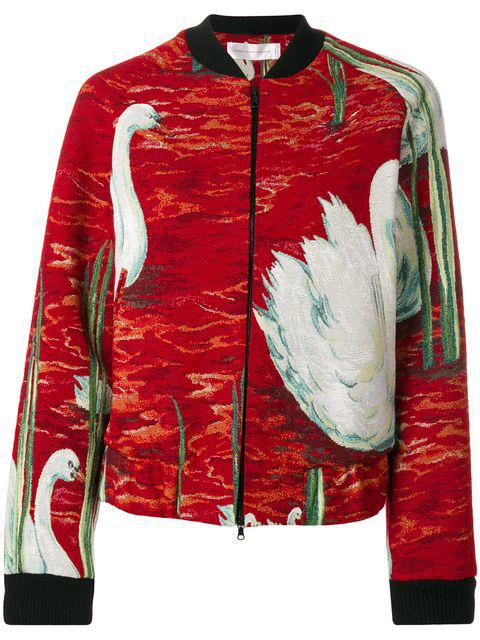 Victoria Victoria Beckham Raglan Bomber Jacket With Cotton In Multicolour