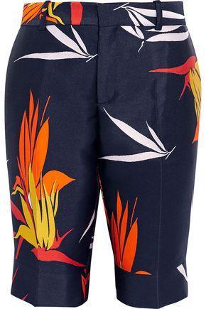 Marni Woman Bermuda Cotton-faille Shorts Multicolor