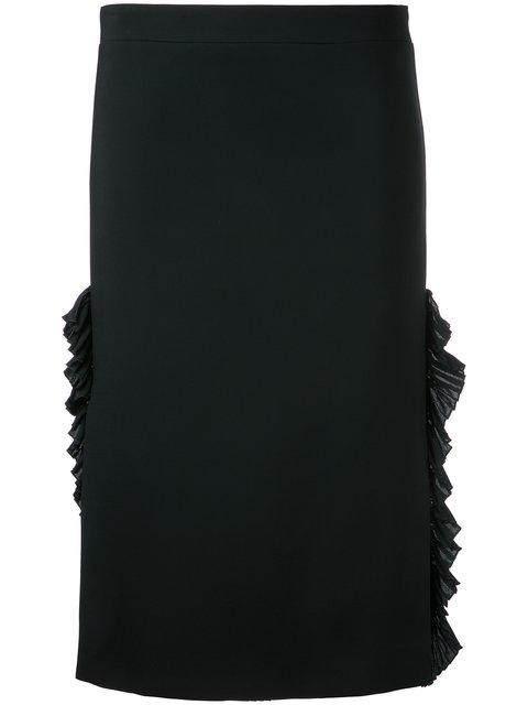 N°21 Nº21 Gathered Pencil Skirt - Black