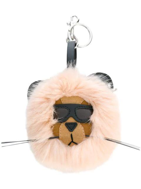 Stella Mccartney Lion Key Ring In Pink