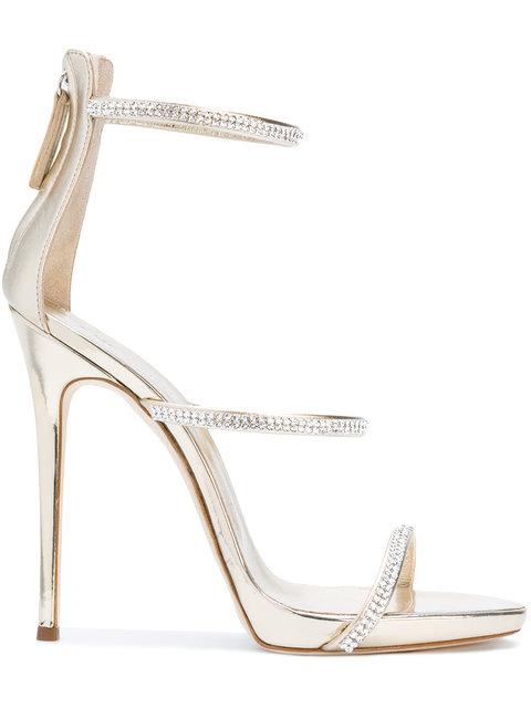 Giuseppe Zanotti Women's Coline Embellished Strappy High-Heel Sandals In Metallic Gold
